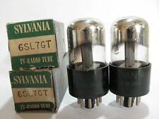 2 matched 1954 Sylvania 6SL7GT tubes - TV7B tests @ 52/48, 54/50, min:32/32
