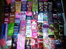 *LOT OF 25 Asst Indoor Tanning Bed Lotion Pkts+5 Leg/Face+25 Tanning Stickers