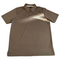 Oakley Mens Grey Short Sleeve Golf Polo Shirt Top Size Medium