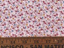 Vintage Cotton Quilt Fabric Floral Mini Roses Print BTHY