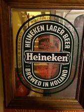 Vintage Heineken Bar Mirror 11x14