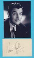Robert Taylor  Autograph , Original Hand Signed Album Page