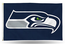 Seattle Seahawks Authentic 3x5 Indoor/Outdoor Flag Banner NFL Hologram