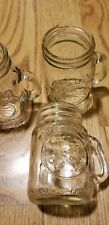 "Vintage Golden Harvest Mini Mugs Glass Jar Set of 3 NICE 3 1/4"" Tall Handles"