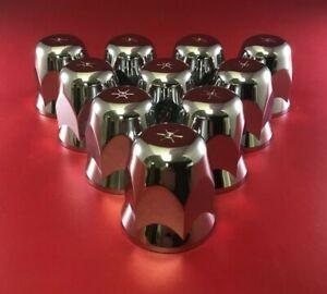 ALCOA 000181 HUG-A-LUG 33MM HEX NUT COVER PUSH-ON PLASTIC CHROME (10PCS)