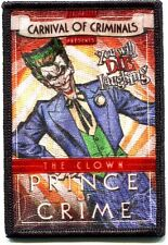 THE JOKER prince of crime EMBROIDERED IRON-ON PATCH *Free Shipping* batman pdc79