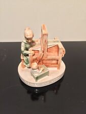 "Vintage Sebastian Miniatures Hand Painted ""Weaver and Loom�"