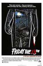 Friday 13th 1 Poster 01 A3 Box Canvas Print