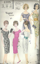 "1961 Vintage VOGUE Sewing Pattern B38"" DRESS CUMMERBUND APRON (1593)"