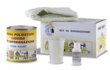 KIT VETRORESINA RIPARAZIONI barca gommone resina poliestere  1kg + mat fibra cat
