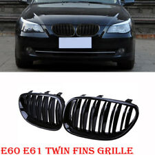 Gloss Black Front Sport Kidney Double Twin Grill Grille For BMW E60 E61 M5 03-09