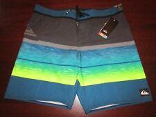 mens quiksilver dryflight board shorts 38 nwt $49.50 slab logo multi stripe