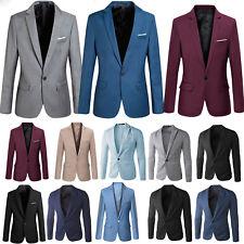 Mens Classic Stylish Formal Business Suit Blazer Slim Fit Luxury Coat Jacket