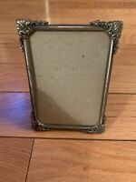 Vintage Amazing Metal Picture Frame Glassed 5x3.5 and 3.1x4.7 Inched