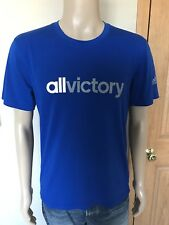 Men's Adidas All Victory Climalite T Shirt Size Large Royal Blue