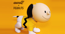 "Super7 SDCC 2019 Peanuts Snoopy & Charlie Brown Mask 16"" Vinyl Exclusive - Kaws"