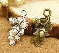 10/50/260pcs Wholesale Tibetan Silver Pine Cones Jewelry Charm Pendant 22x13mm