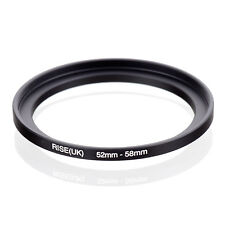 RISE(UK) 52-58mm Metal Step Up Ring Lens Adapter 52mm to 58mm for Camera Filters