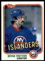 1981-82 TOPPS HOCKEY SET BREAK BRYAN TROTTIER NEW YORK ISLANDERS #41