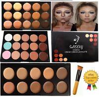 15 Colors Concealer Palette #1,#2 kit with Brush Face Makeup Contour Cream,