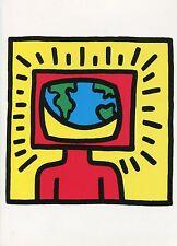 Keith Haring•Earth Awareness•Global Communication•Graffitti•US Art POSTCARD 4x6