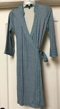 C. WONDER Blue Geometric Jersey Knit Stretch Wrap Dress Size , Small XS. ( $128)