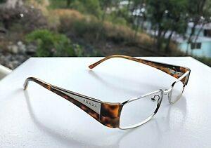 Very Nice Prada Silver Tortoise Eyeglasses Frames VPR 511 2AU-101 / 50-17 135
