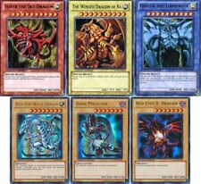 Legendary Collection Egyptian God Cards Slifer, Obelisk, Ra, Blue Eyes, YuGiOh