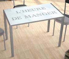Mesa fija cristal templado blanco con serigrafía 105x60 para cocina NUEVA