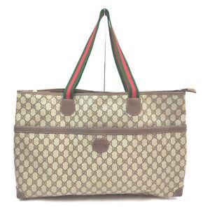 Vintage Gucci Tote Bag  Light Brown PVC 633251
