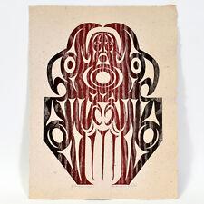 "Susan Point Rare 1988 Woodblock Print Edition of 60 Split Raven Design 14"" x 11"""