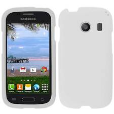 WHITE HARD COVER SNAP ON PLASTIC MATTE CASE FOR SAMSUNG GALAXY ACE STYLE S765C