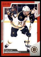 2020-21 UD O-Pee-Chee Red Border #43 Patrice Bergeron - Boston Bruins