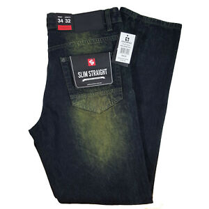 SOUTHPOLE MEN'S RIPPED DENIM MD SAND TINT JEANS SLIM STRAIGHT 17121-3101