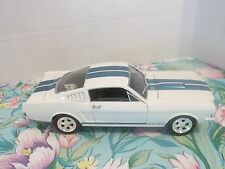 UNIVERSAL HOBBIES FORD MUSTANG 350 GT~WHITE WITH BLUE STRIPES~1:18TH SCALE