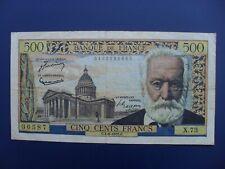 1955 FRANCE 500 FRANCS BANKNOTE CRISP GF