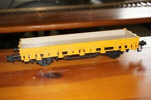 Rfe ] Märklin 5853 Gauge 1 Stake Wagon Yellow, Inside Beige without Original Box