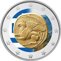 2 Euro Gedenkmünze Griechenland 2020 Thrakien coloriert / Farbe / Farbmünze