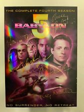 Babylon 5 Complete Seaon 4 Dvd Set 5 Hand Signatures On Cover Bruce Boxleitner