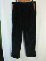 Orvis Men's Supercords Size 36 x 34 Dark Blue Black Corduroy w/ Leather Details