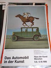 Plakat Das Automobil in der Kunst 1986 René Magritte DIN A1 Original TOP!