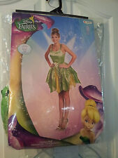 New-Womens-Small-4-6-Tinker-Bell-Costume-Disney-Fairies-Dress-Wings-Disguise