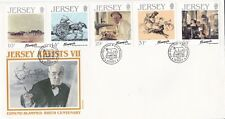 Jersey 1986 Artists 7th Series FDC unadressed VGC