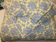 Set 4 Ralph Lauren Studio Yellow Paisley Queen Full Comforter 2 Shams 1 Pillow