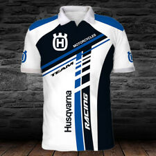 Husqvarna Motorcycles-Racing-Top Gift-Men's POLO 3D-Size S to 5XL