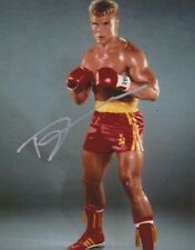 Dolph Lundgren Signed Rocky IV 10x8 Photo AFTAL