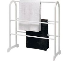 Wooden White Free Standing Towel Rail Stand  - Easy To Assemble - Free Delivery