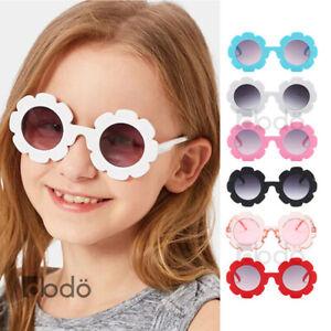 Kids Girls Baby Children Flower Shaped Cute Round Sunglasses Toddler Shade UV400