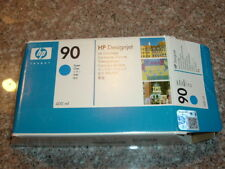 2/2018! HP-90 Cyan Ink cartridge (C5061A) 400 ml for Designjet 4000,4500 OPENED!