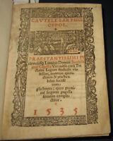 1535 Bartholomeo Cipolla, Cautele varii tractatus legum. Diritto, legge. Lione